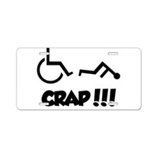Cute Wheelchair Aluminum License Plate
