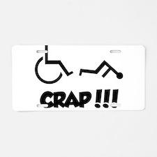 Funny Wheelchair humor Aluminum License Plate