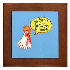 Winner Chicken Dinner Framed Tile