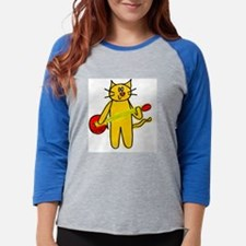 cat.png Womens Baseball Tee