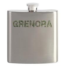Grenora, Vintage Camo, Flask