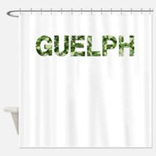 Guelph, Vintage Camo, Shower Curtain