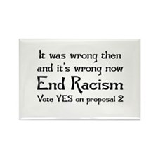 End Racism Rectangle Magnet