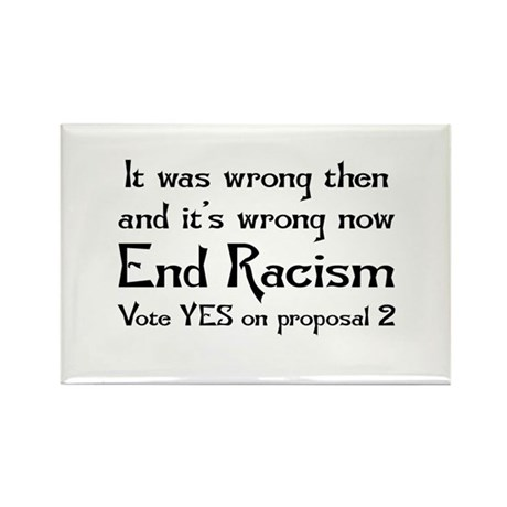 End Racism Rectangle Magnet (10 pack)