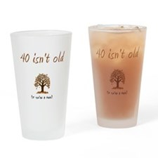 Funny 40 Drinking Glass