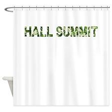 Hall Summit, Vintage Camo, Shower Curtain
