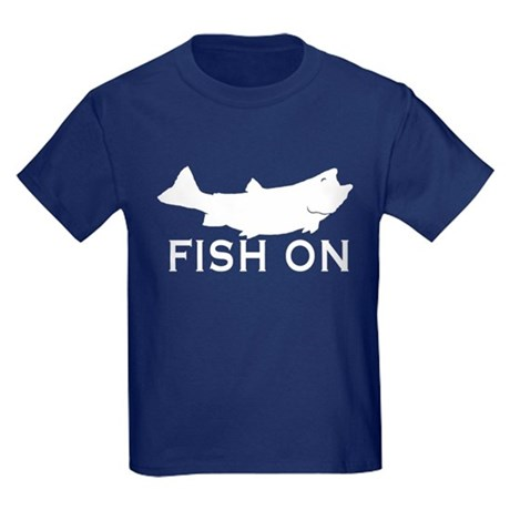 CafePress Fish on Kids Dark T-Shirt