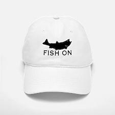 Fish on Baseball Baseball Cap
