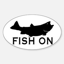 Fish on Sticker (Oval)