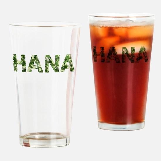 Hana, Vintage Camo, Drinking Glass
