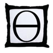 Greek Symbol Theta Throw Pillow