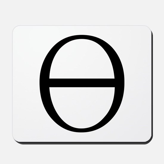 Greek Symbol Theta Mousepad