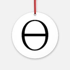 Greek Symbol Theta Ornament (Round)