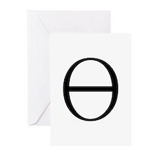 Greek Symbol Theta Greeting Cards (Pk of 10)