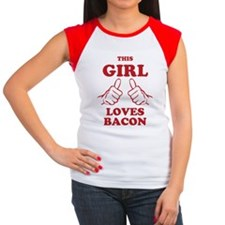 This Girl Loves Bacon Women's Cap Sleeve T-Shirt