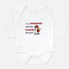 Who the flock tee Long Sleeve Infant Bodysuit