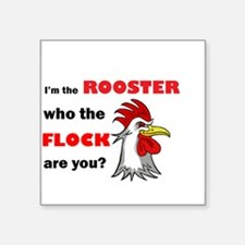 "Who the flock tee Square Sticker 3"" x 3"""