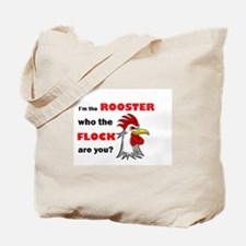 Who the flock tee Tote Bag