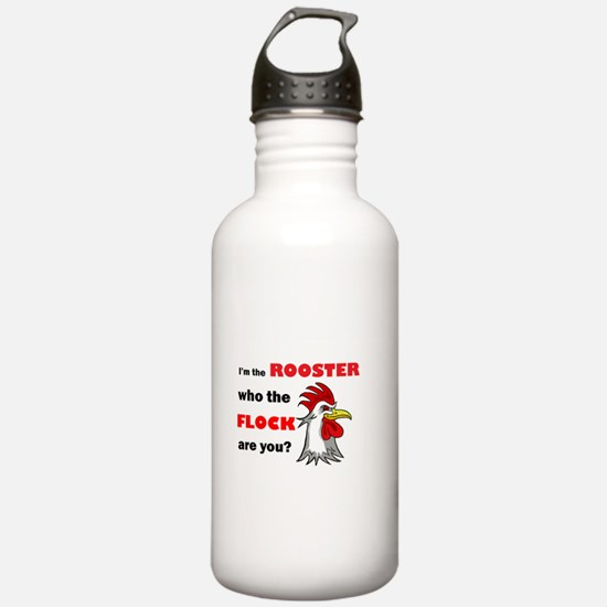 Who the flock tee Water Bottle