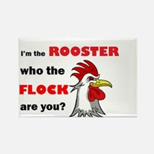 Who the flock tee Rectangle Magnet