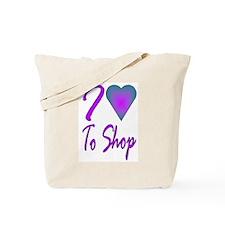 I heart to shop Tote Bag