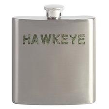 Hawkeye, Vintage Camo, Flask