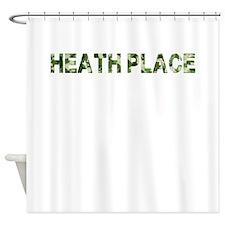 Heath Place, Vintage Camo, Shower Curtain