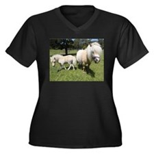 Mini Pony 12 Women's Plus Size V-Neck Dark T-Shirt