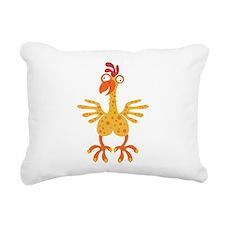 Loony Chicken Rectangular Canvas Pillow