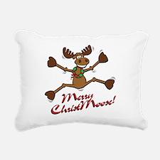 christmoose.png Rectangular Canvas Pillow