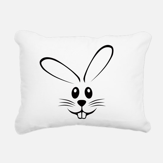 bunny_face_b.png Rectangular Canvas Pillow