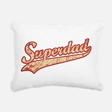 'Vintage' Super Dad Rectangular Canvas Pillow