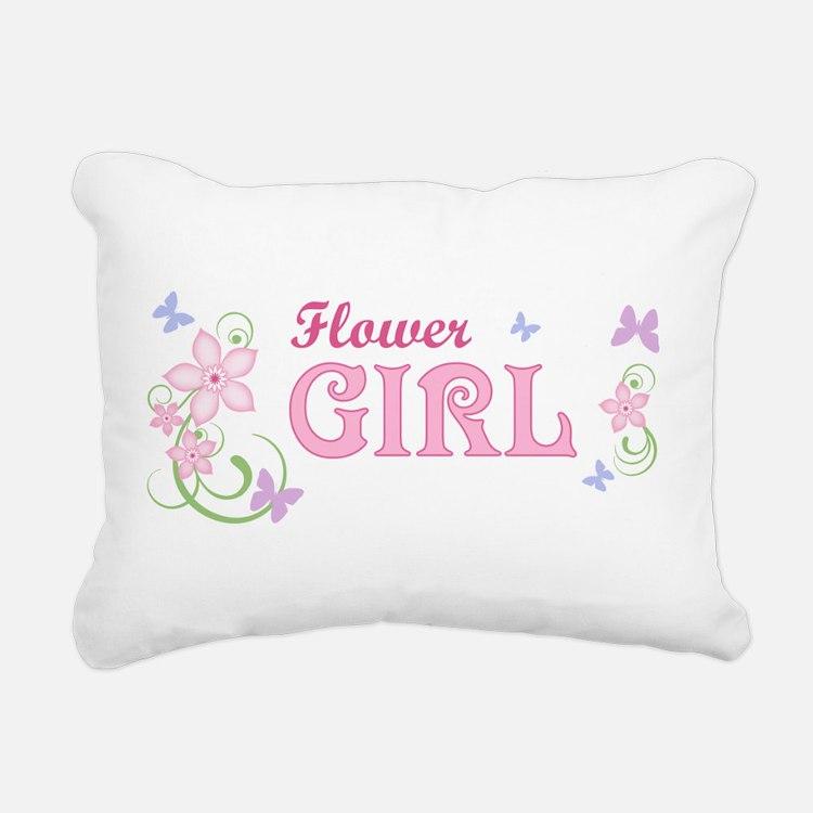 Flower Girl [f/b] Rectangular Canvas Pillow