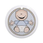 Baby Boy Keepsake Ornament (Round)