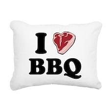 bbq_heart.png Rectangular Canvas Pillow