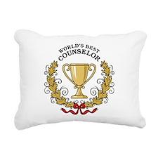 World's Best Counselor Rectangular Canvas Pillow