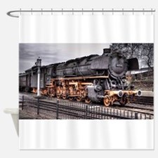Vintage Locomotive Steam Train Shower Curtain