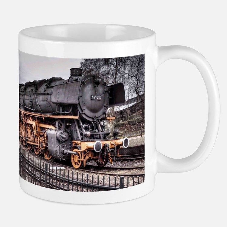 Vintage Locomotive Steam Train Small Small Mug
