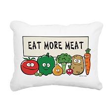3-vegs_meat.png Rectangular Canvas Pillow