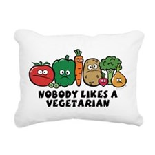 nobody_vegeterian.png Rectangular Canvas Pillow