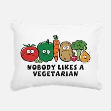 nobody_vegeterian.png Rectangular Canvas Pillow