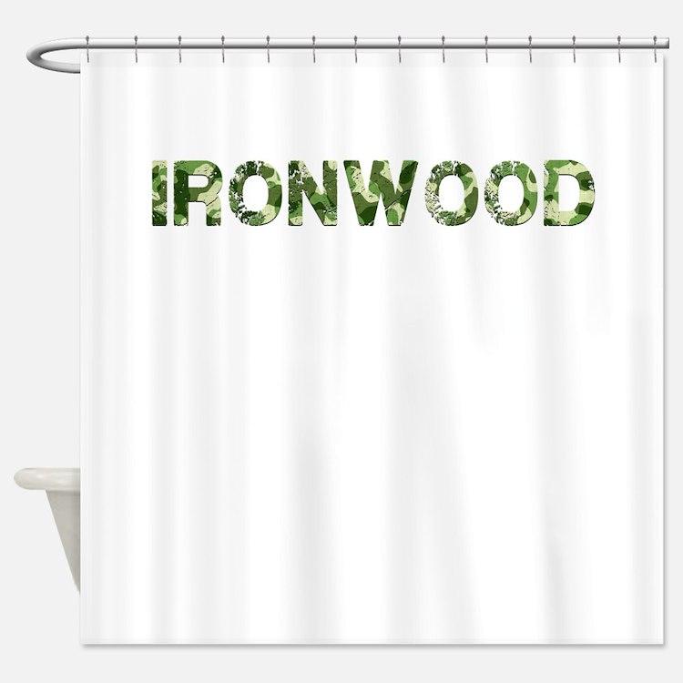 Ironwood, Vintage Camo, Shower Curtain