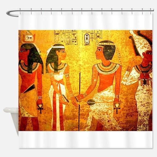 Egyptian shower curtain
