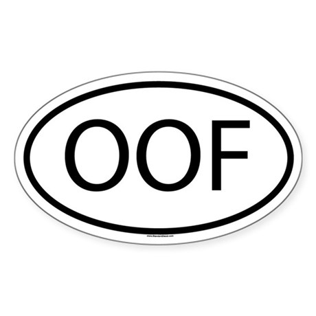 Oof Sticker Oval By Admin Cp13595195