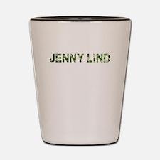 Jenny Lind, Vintage Camo, Shot Glass