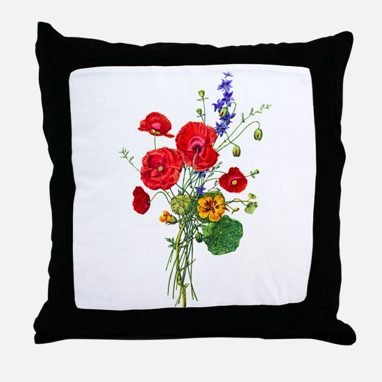 Jean Louis Prevost Bouquet Throw Pillow
