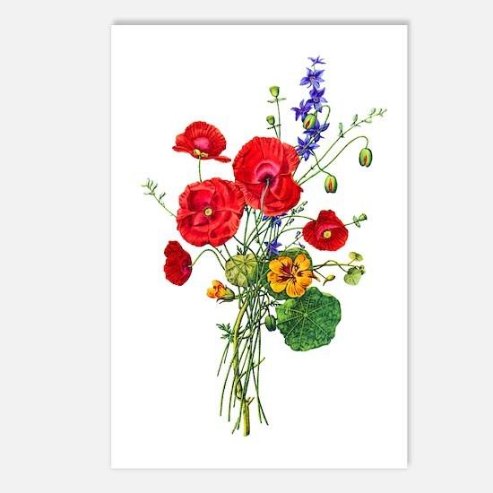 Jean Louis Prevost Bouquet Postcards (Package of 8