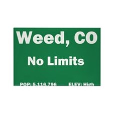 Welcom To Weed, Colorado! Rectangle Magnet