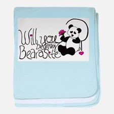 Will you be my BEARasite? baby blanket