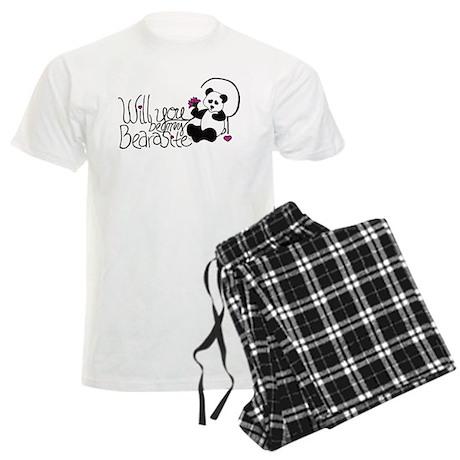 Will you be my BEARasite? Men's Light Pajamas